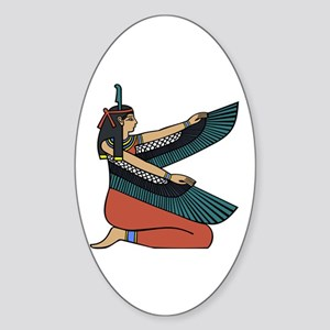 Egyptian Goddess Maat Sticker (Oval)